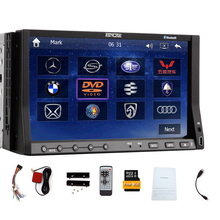 Logo 3D Car DVD Player Stereo 7″ Movie iPod Accessory MP4 Bluetooth GPS 2 din Audio MP5 Auto Radio PC Universal