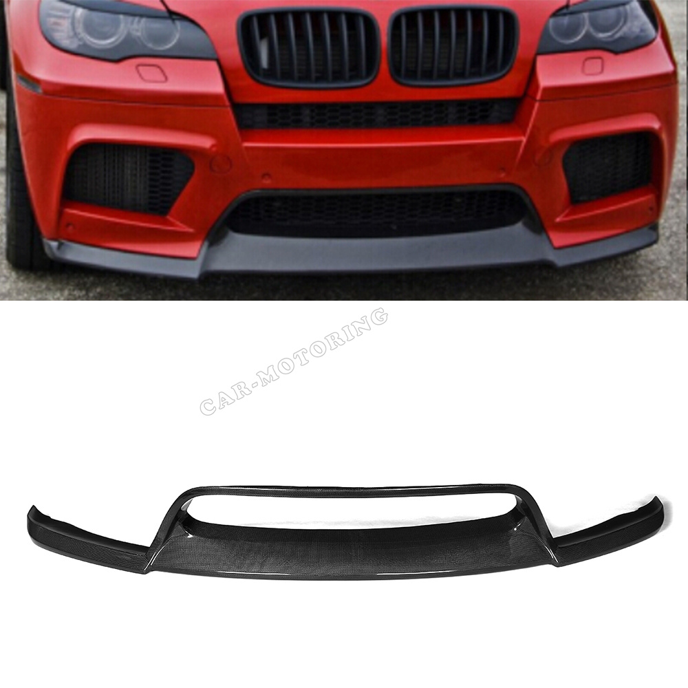 Front Bumper Lip Spoiler For BMW E71 X6M Bumper 2010 2014