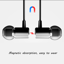 qijiagu Universal 3.5mm Wired Earphone In-Ear Earphones Magnetism Common Headset Handsfree Call with Microphone