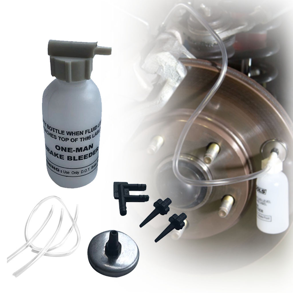 Franchise Car Brake Fluid Change Kits One Man Brake Bleeder Kit Small Bleed Bottle Brakes Bleeding Kit  #0611