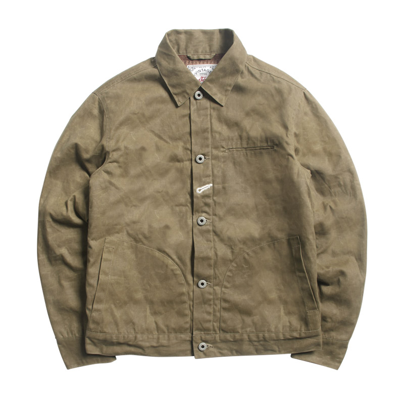 RGT-0005 Read Description! Asian Size Good Quality Cotton Canvas Wax Water Proof Jacket