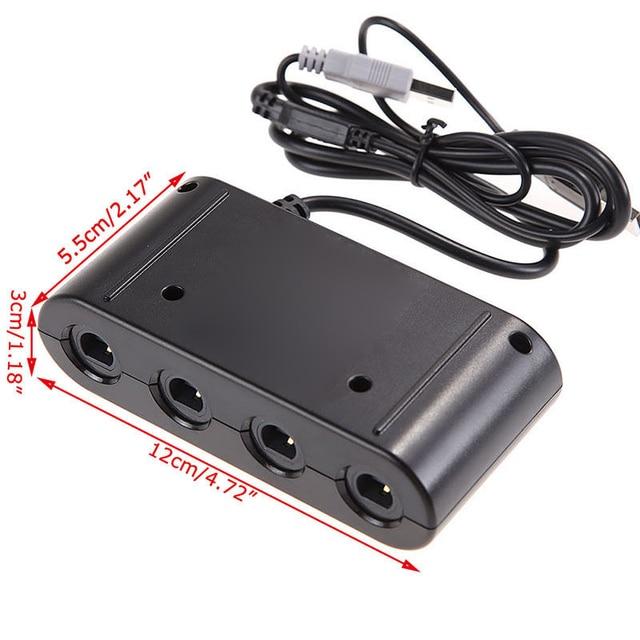 OOTDTY USB GameCube Controller Adapter Converter for Nintendo Wii U Super Smash Bros PC 5
