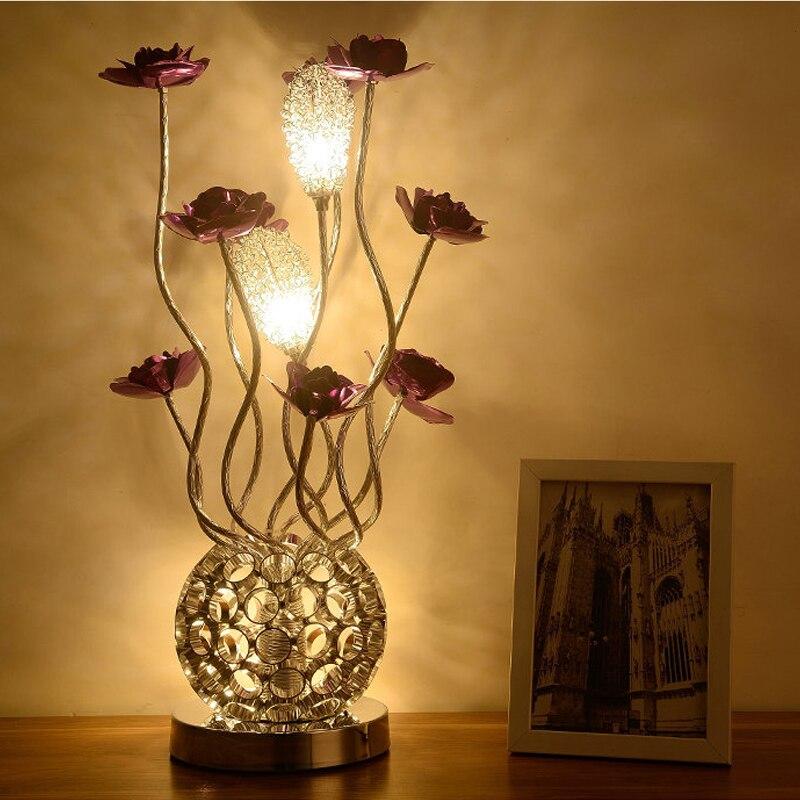 Living Room Study led Desk Lamp Bedroom Bedside Flower Table Lamp Wedding Decorating Table Light Beauty Salon Modern led light цена
