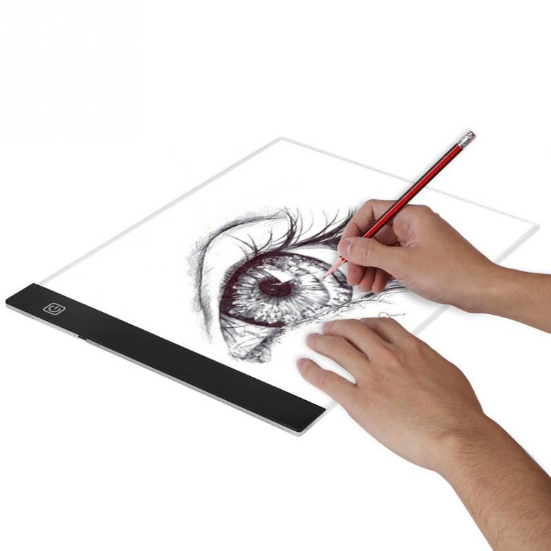 A4 Led Art Stencil Board Light Pad Tracing Drawing Table Board For Kids Artists With Cable Office & School Supplies Painting Supplies