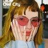 Newest Women Cat Eye Elegant Sunglasses Luxury Brand Designer Small Alloy Frame Gradient Multicolour Len Male