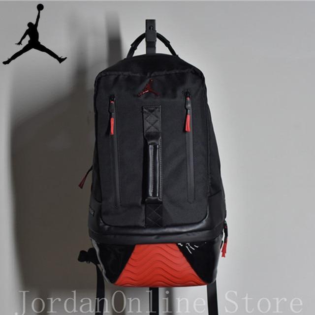 Jordan Retro 11 Sport Bags Men and Women Bookbag PU Leather Climbing Laptop  Bag Sport-Backpack Bag Lt. Black Color Good quality cc3f6bbf35eaf