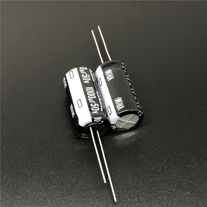 5pcs/50pcs 1000uF 50V NICHICON VR Series 12.5x25mm 50V1000uF Aluminum Electrolytic Capacitor