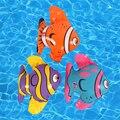 3 unids/set Inflable Mini Fish for Kids Cumpleaños/Decoración de la Boda de artículos para Fiestas Favor Blow Up de Juguete de Juguete Del Niño Juguete Del baño