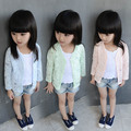 Kids Cardigan Sweaters Girls Summer children leisure all-match long sleeved jacket sunscreen clothing coat