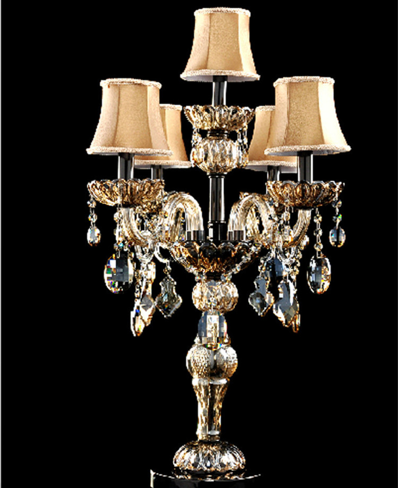 Popular Big Table Lamp-Buy Cheap Big Table Lamp lots from China ...:Antique French restaurant candelabra big crystal table lamps marrige candle  holder wedding dining room table light,Lighting