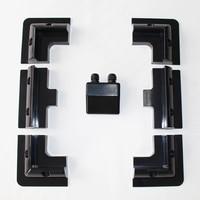 1sets/Lot black color ABS Solar Panel Mounting Bracket Kits Cable Entry Gand Ideal 7pcs/set for Caravan Motorhome RV