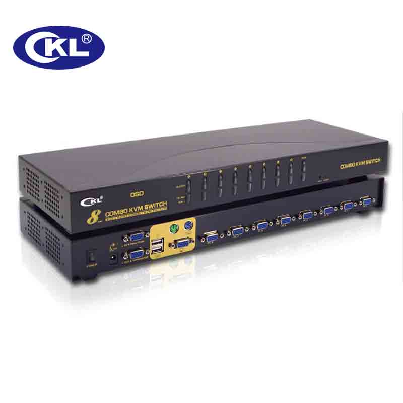 Ckl usb ps/2 OSD VGA KVM коммутатор 8 портовый стойку с Кабели, pc Мониторы клавиатура Мышь DVR NVR сервер Switcher ckl 9138up