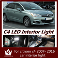 Night lord 7pcs car led light Interior Light Kit Dome light Reading light bright Package for Citroen c4 accessories 2007- 2016