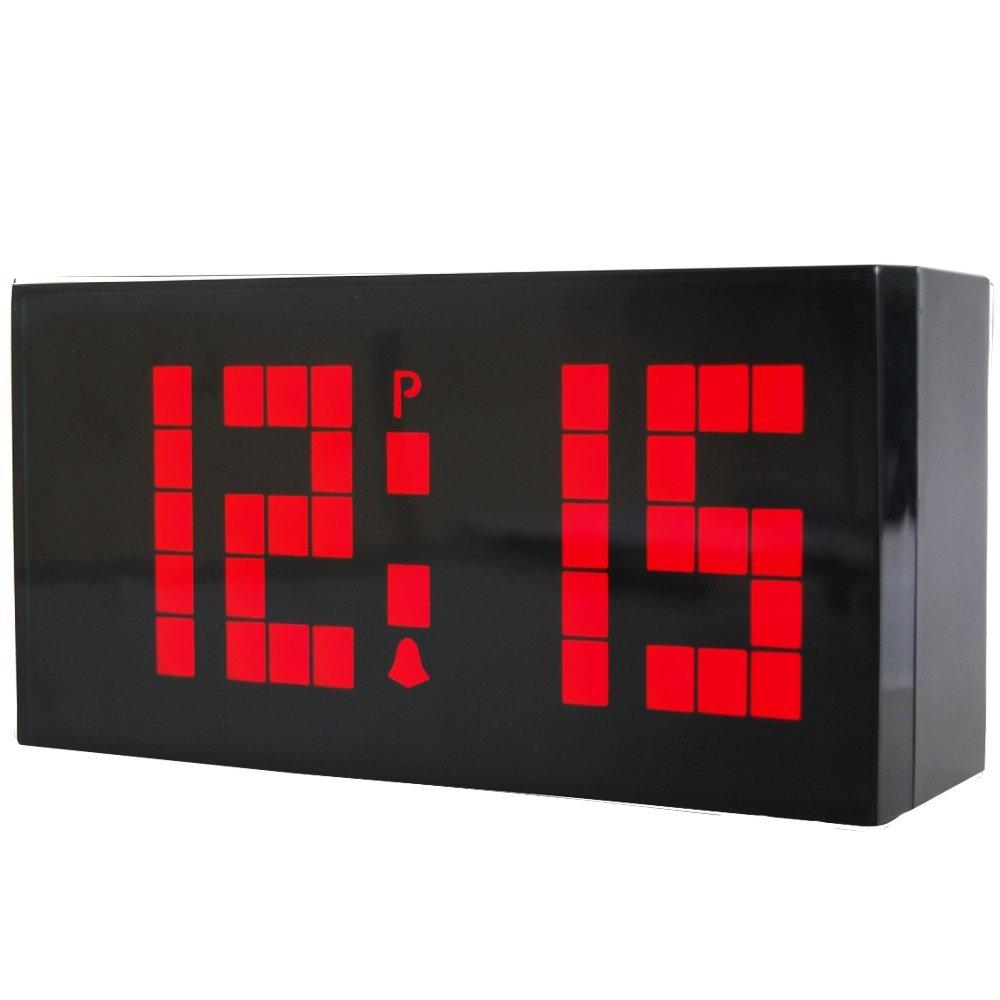 new fashion large jumbo big screen led digital wall desk alarm clocks with calendar temperature nightlight