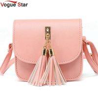 Fashion 2017 small chains bag women candy color tassel messenger bags female handbag shoulder bag flap.jpg 200x200