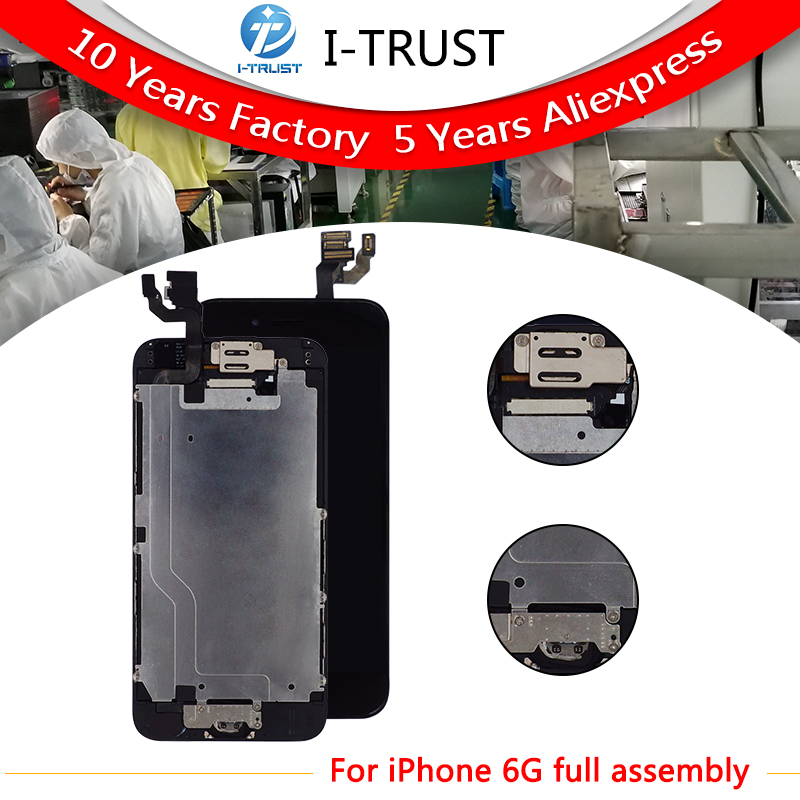 Grade A No Dead Pixel LCD For Apple iPhone 6 LCD Screen Replacement Front Camera and
