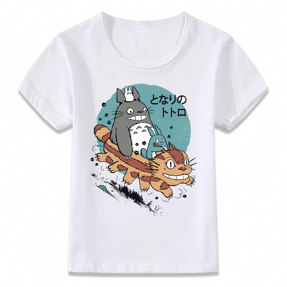 Kids Clothes T Shirt My Neighbor Totoro And The Cat Bus Anime Forest Spirit Boys And Girls Toddler Shirts Oal100