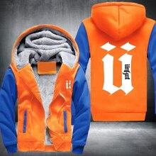 Unkutパーカー男性ヒップホップメンズリンガー厚みのフリース長袖ジャケット送料無料ファッション米国euサイズプラスサイズ