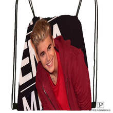 Custom Justin-Bieber-slammed- Drawstring Backpack Bag Cute Daypack Kids Satchel (Black Back) 31x40cm#20180611-02-53