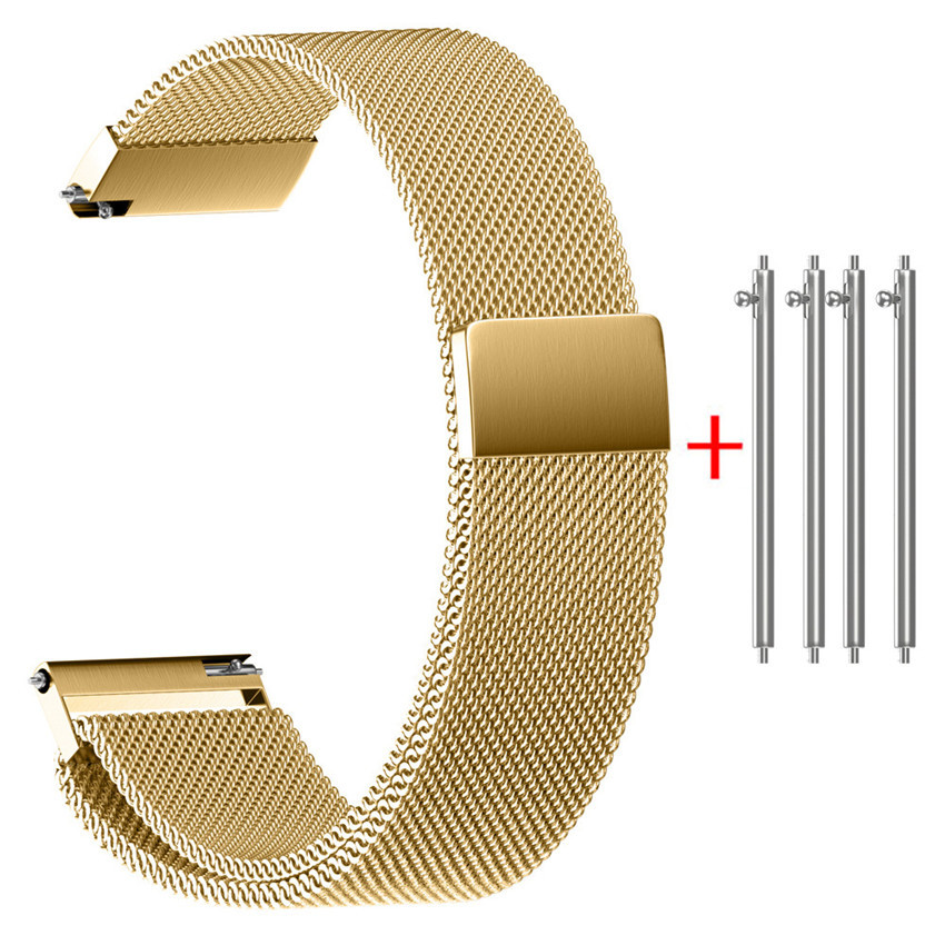 Watchband Stainless Steel Watch band 22/20/18/16/14MM Milanese Magnetic Loop Stainless Steel Watch Strap Bands