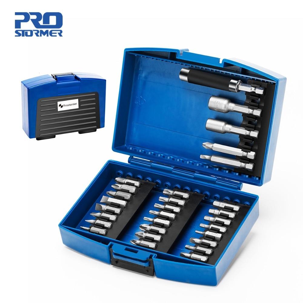 Prostormer 29pc Bit & Nut Driver Set Phillips Chave De Fenda/Fenda Bits Com Magnético Ferramenta Multi Reparação de Eletrodomésticos ferramenta de mão