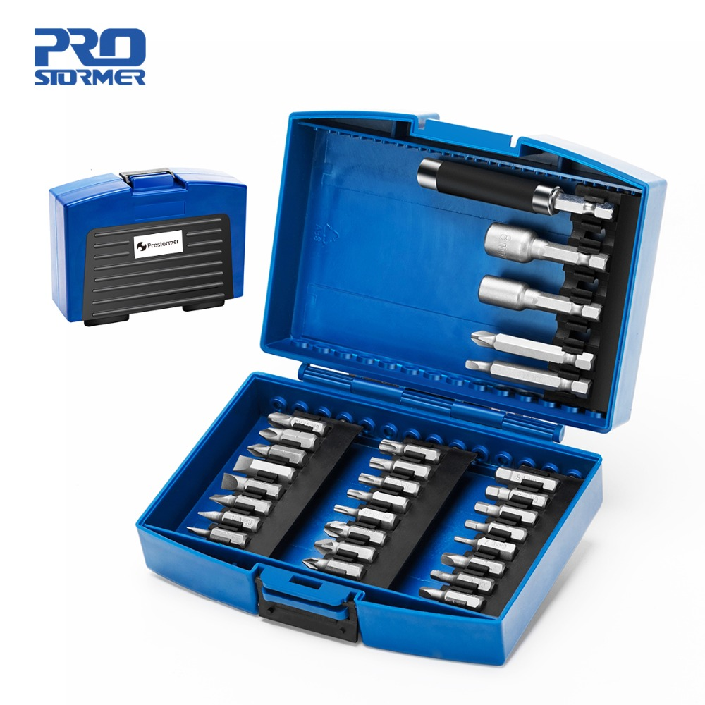 Prostormer 29pc Screwdriver Bit & Nut Driver Set Phillips/Slotted Bits With Magnetic Multi Tool Home Appliances Repair Hand Tool