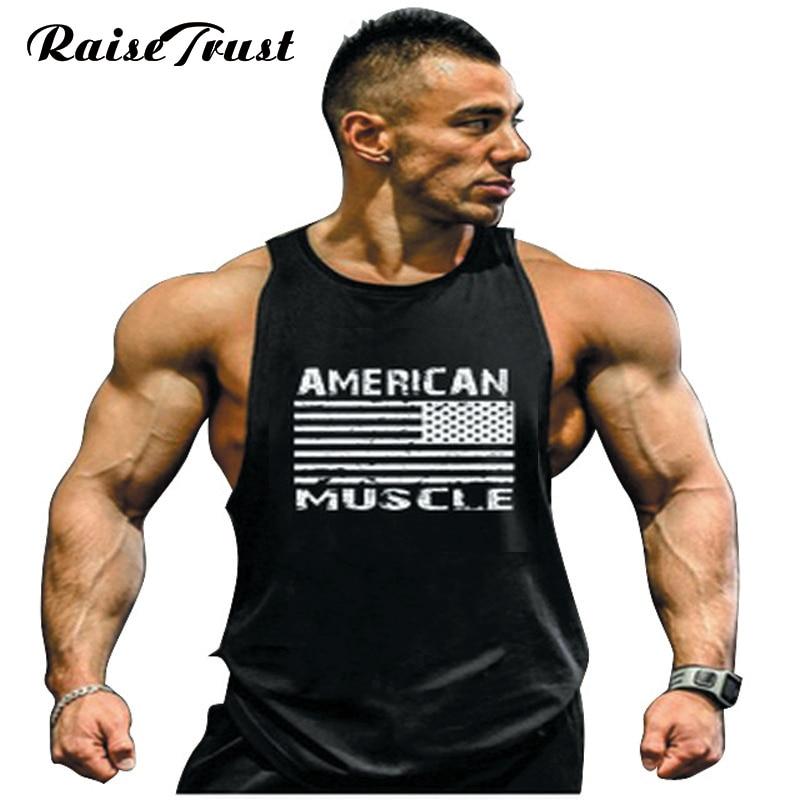 New Tops Cotton Vest Muscle Shirt Sleeveless Singlet