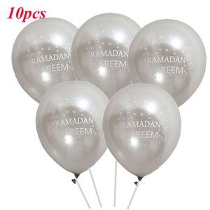 Image 3 - 10 adet Eid Mubarak balonlar ramazan malzemeleri balonlar İslam yeni yıl dekor ramazan Kareem müslüman festivali dekorasyon balonu