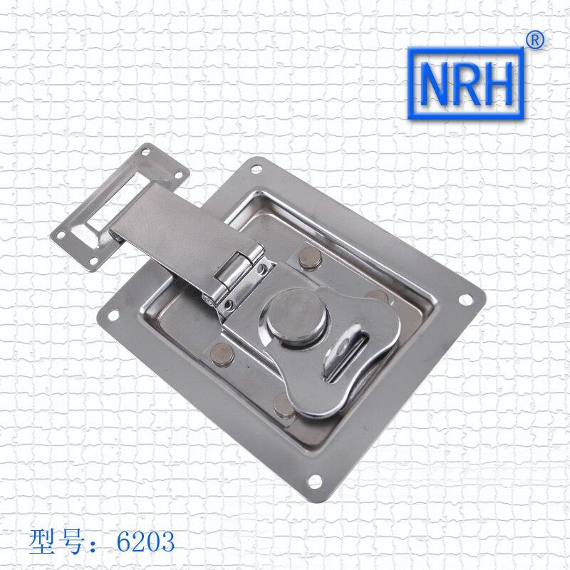 NRH 6203 DJ кабинет холоднокатаной стали Бабочка защелка сейсмическая аудио хромирование встраиваемые замок Бабочка для дорожного дело