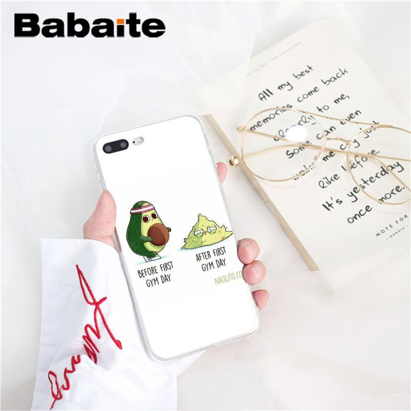 , Babaite avocado TPU Soft Phone Accessories Case Cover for iPhone 5 5Sx 6 7 7plus 8 8Plus X XS MAX XR Fundas Capa
