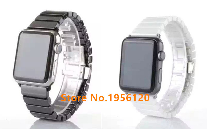 New High Quality Ceramic butterfly buckle Watchband Original Link Bracelet Strap+Connector Adapter For Apple Watch Iwatch38/42mmNew High Quality Ceramic butterfly buckle Watchband Original Link Bracelet Strap+Connector Adapter For Apple Watch Iwatch38/42mm