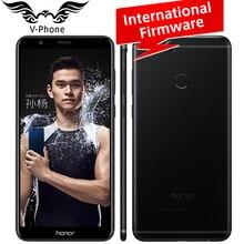 """Глобальный Встроенная память Huawei Honor 7x мобильный телефон 5.93 """"полный Экран 4 ГБ 64 ГБ KIRIN 659 Octa Core Dual сзади Камера 2160*1080 отпечатков пальцев"""