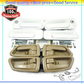 New Outside and Inside Door Handles Set  69278-AA010 69277AA010B0  For Toyota Camry 1997 1998 1999 2000 2001  (DHTOWT206P207Q8