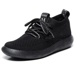 Image 2 - Peipah Lente Ademend Mesh Vrouwen Sneakers Casual Lace Up Zapatillas Deportivas Mujer Effen Trainers Vrouwen Wandelschoenen