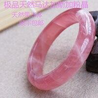 Природные желе розовый кристалл браслет Dr. персик Для женщин