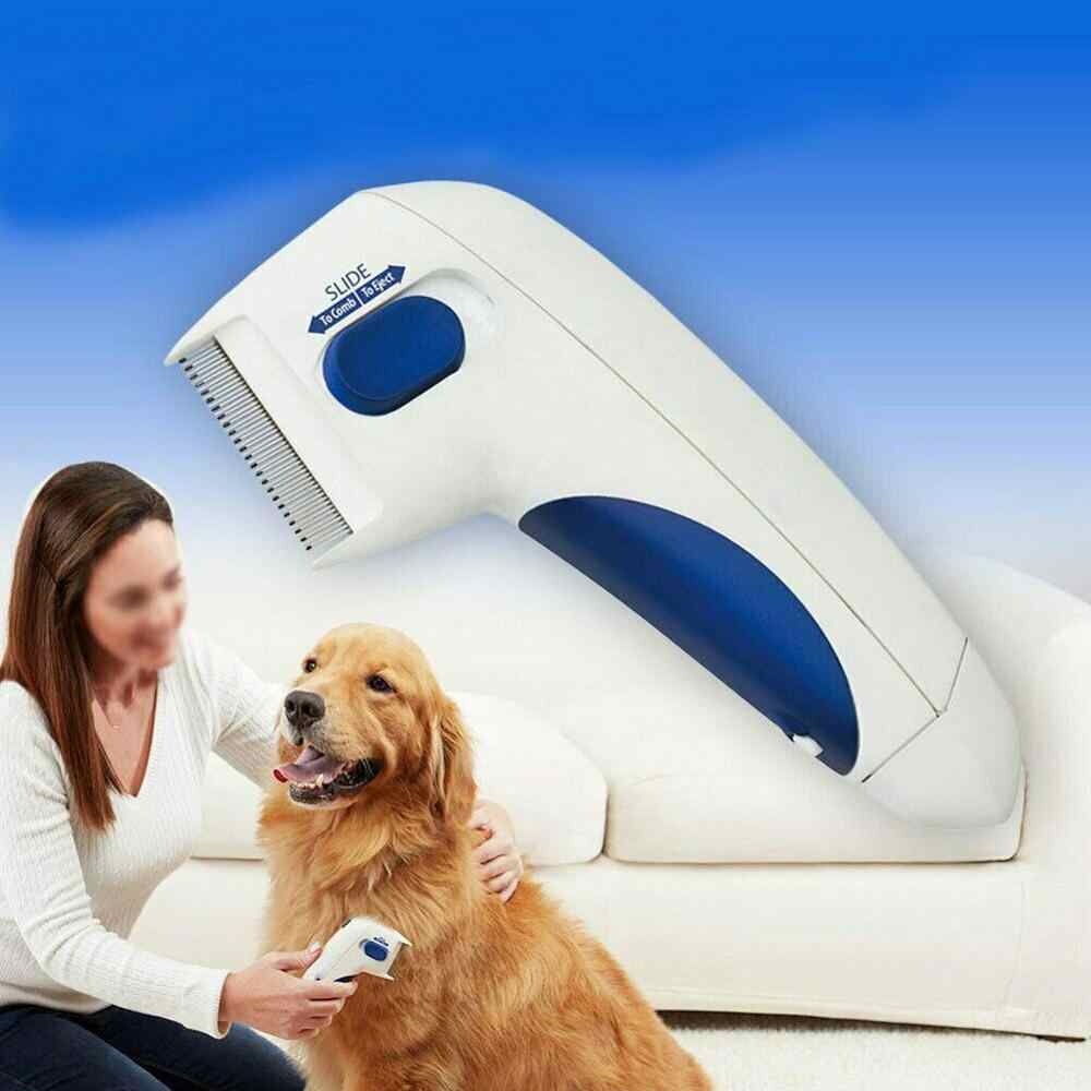 Peine limpiador de pulgas para mascotas, cepillo eléctrico para limpieza de pulgas de perros, peine para perros, peine electrónico para piojos para gatos, suministros para mascotas perros