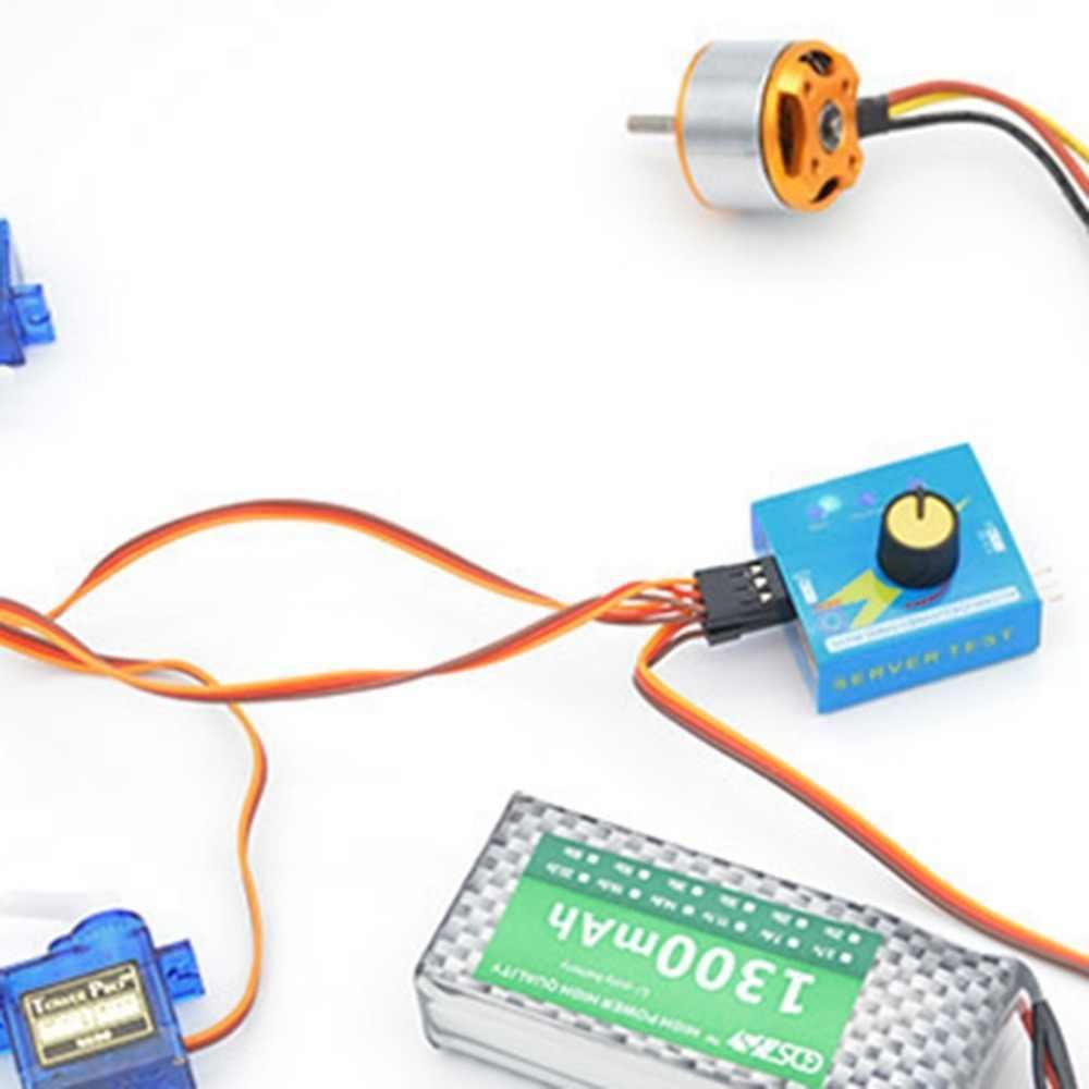 Probador de Servo múltiple Profrssional 3CH ECS controlador de velocidad de consistencia canales de alimentación CCPM medidor maestro comprobador