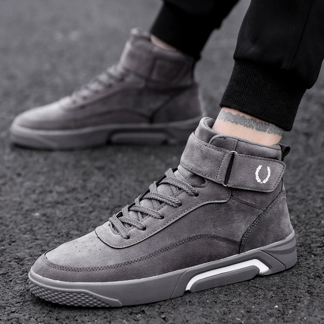 c579beced3010 Bravover Men Shoes Casual Sneakers High Top Fashion Footwear Male Cool High  Top Shoes High Quality