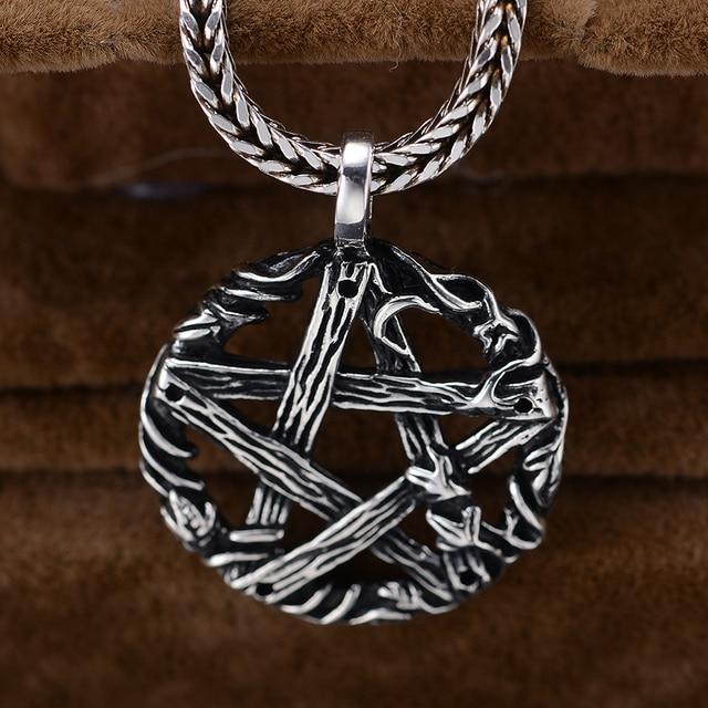 925 sterling silver pentagram necklace thai silver mens jewelry nm 925 sterling silver pentagram necklace thai silver mens jewelry aloadofball Choice Image