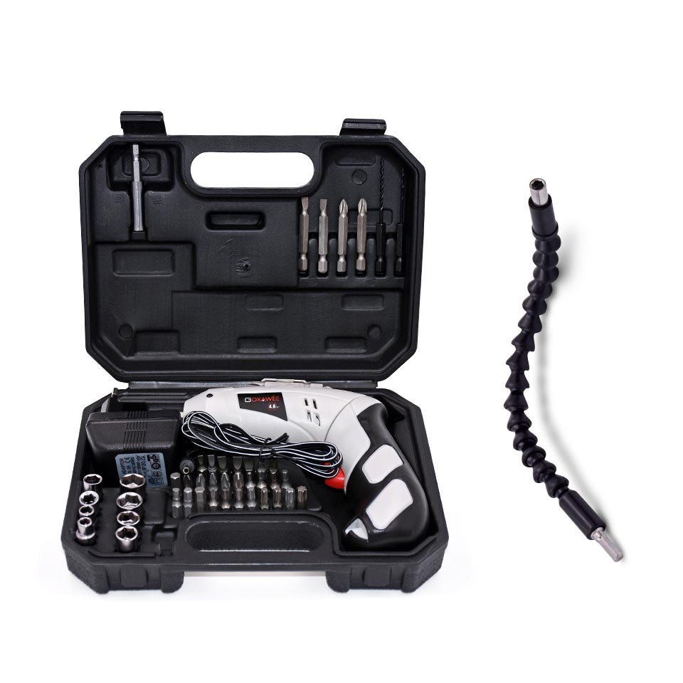 GOXAWEE 4.8V Mini Electric Screwdriver Drill Rechargeable Cordless Screwdrivers Lithium Battery Household DIY Tools Sets 4 8v mini electric screwdriver drill rechargeable cordless screwdrivers lithium battery household diy tools sets
