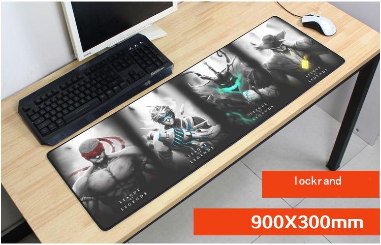 best 900x300mm heros Rengar mouse pad lol mouse mat laptop padmouse Colourful