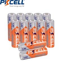 12pcs 1.6V AA 2500mWh 배터리 NIZN aa 충전식 배터리 PKCELL AAA batteria 손전등 원격 제어 CD 플레이어