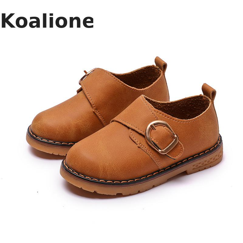 Kids Shoes For Girls Leather Wedding Shoes Children Moccasins Baby Toddler Shoes Boys School Performance Dance Soft 2019 Autumn