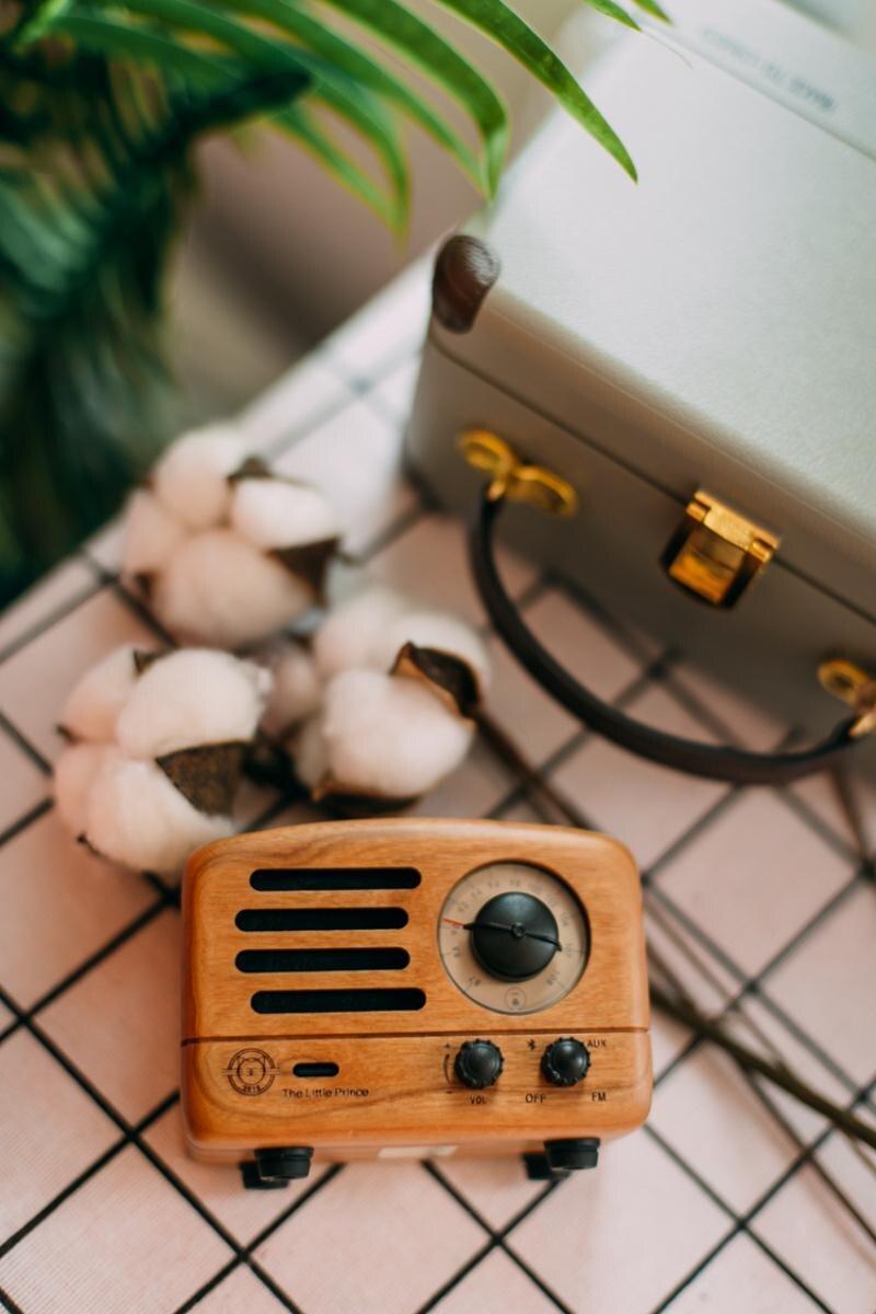 ICL classique roi petit Prince OTR Bluetooth haut-parleur FM radio bois Mini lecteur de musique sans fil audio MW-2 pour PC téléphone portable - 4