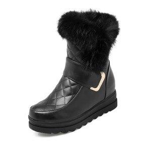 Image 5 - MORAZORA femmes bottes de neige haute qualité en cuir souple hauteur augmentant garde au chaud hiver bottines plate forme chaussures douces