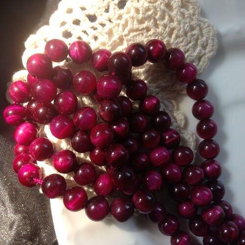 AAA + Natural Rose Red Tiger Eye Stone Grano Flojo Strands Semi-Joyas de piedras preciosas Perlas