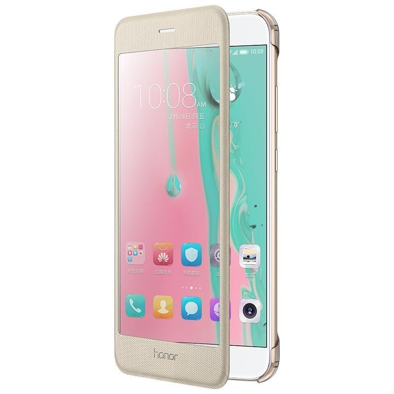 Цена за Для Huawei Honor 8 Pro Чехол funda coque HUAWEI Просмотр Полностью Окно смарт Кожаный Чехол для Huawei Honor 8 Pro/Честь V9-золото