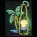 Sinal de néon corona extra garrafa palm tree lâmpadas sinais de néon de vidro tubo de Néon VD Publicidad Iluminado Sinais De Cerveja Luz De Néon De Vidro de 19x15