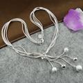 Valen BELA promoción grande Tai Chi cinco perlas de plata colgantes de los collares de cadena Bijuterias 2016 mujeres de moda XL1043
