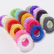 3pcs Telephone Line Hair Ropes Girls Colorful Elastic Traceless Rubber Bands Kids Ponytail Holder Scrunchie Hair Accessories metallic hair scrunchie 3pcs